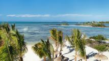 Aerial view of the lagoon, Zilwa Attitude hotel, Mauritius