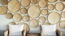 Contemporary rustic chic decoration, Zilwa Attitude hotel Mauritius